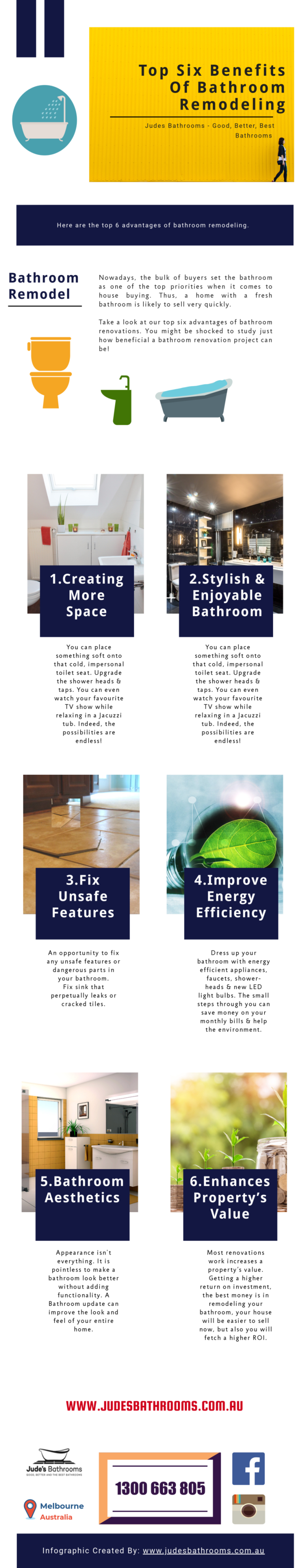 Bathroom Renovations Advantages Infographic